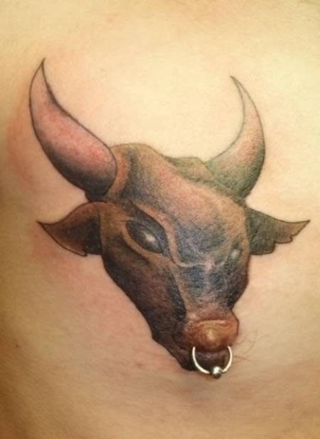 What A Load Of Bull-Insane Nipple Tattoos And Piercing