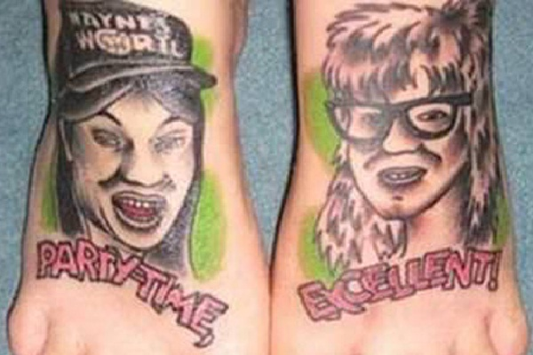 Not Excellent-Craziest Foot Tattoos