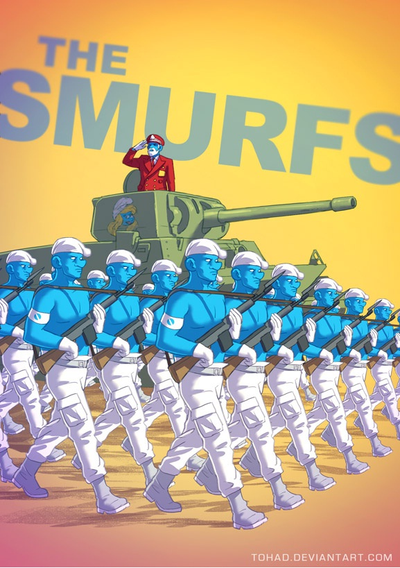 The Smurfs-Classic Childhood Characters In Evil Form