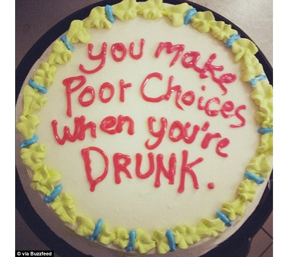 Drunken Choices-Funniest Texts For A Cake