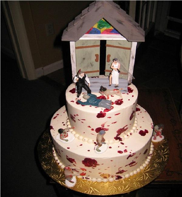 Massacre At The Chapel-Amazing Zombie Wedding Cakes