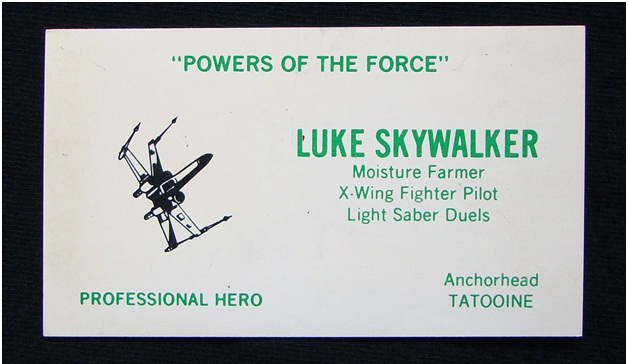 Luke Skywalker Business Card-Funniest Business Cards