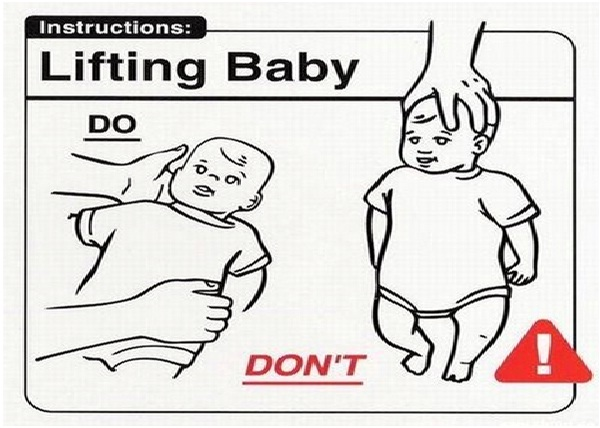 How To Hold A Baby-Stupidest Warning Labels