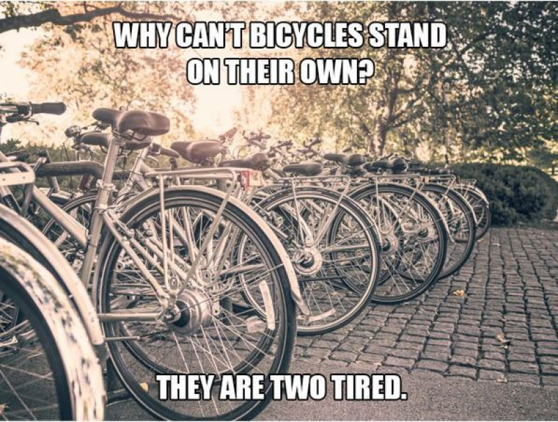 Why Can't Bicycles Stand on Their Own?-15 Terrible Jokes That Are Actually Funny