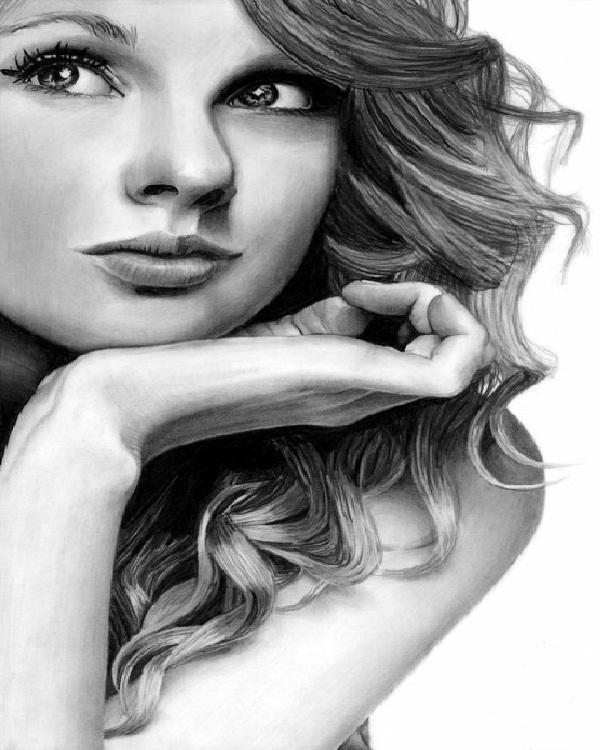 Taylor Swift-Mind Blowing Pencil Art