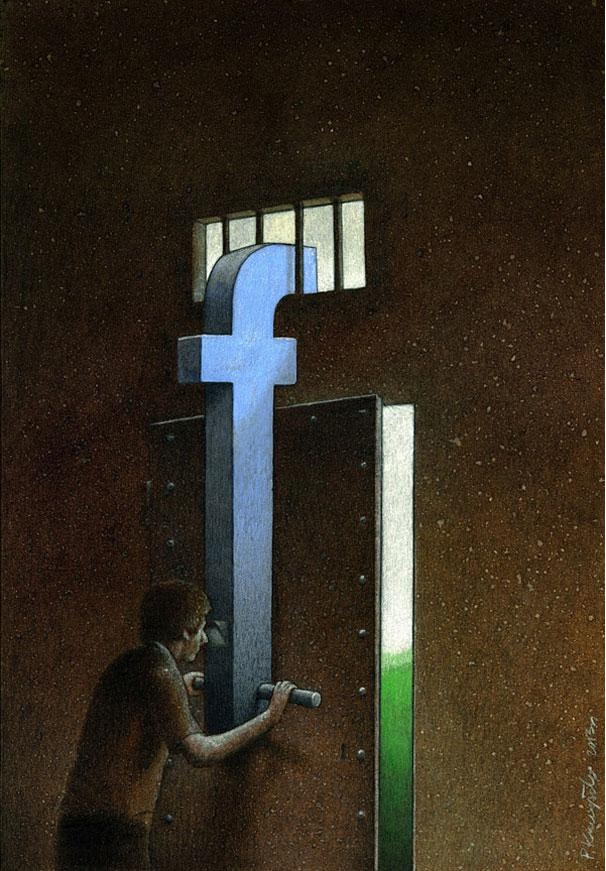 The lack of privacy-Thought-Provoking Satirical Illustrations By Pawel Kuczynski