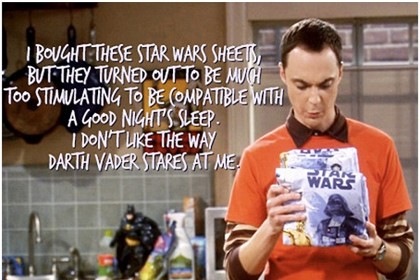 Star Wars-Best Sheldon Cooper Quotes