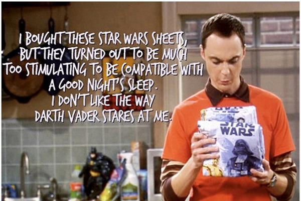 Star Wars-Best Sheldon Cooper Quotes