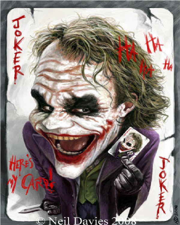 Caricature-15 Best Joker Drawings That Give You Nightmares