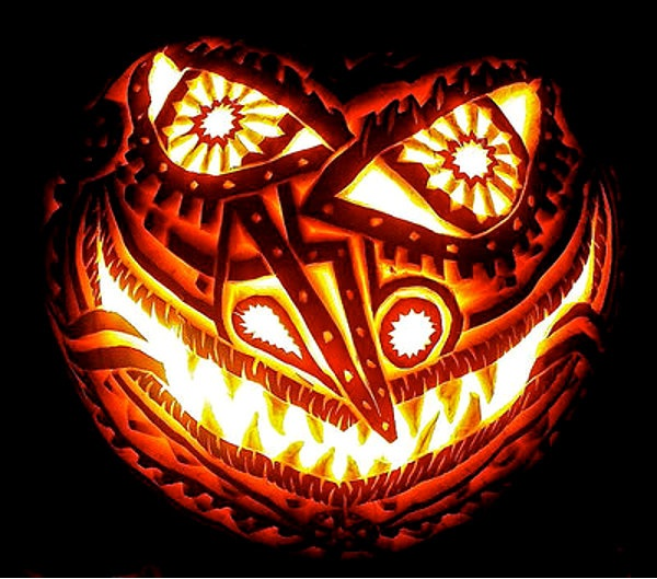 Evil Pumpkin-Halloween Pumpkin Carvings