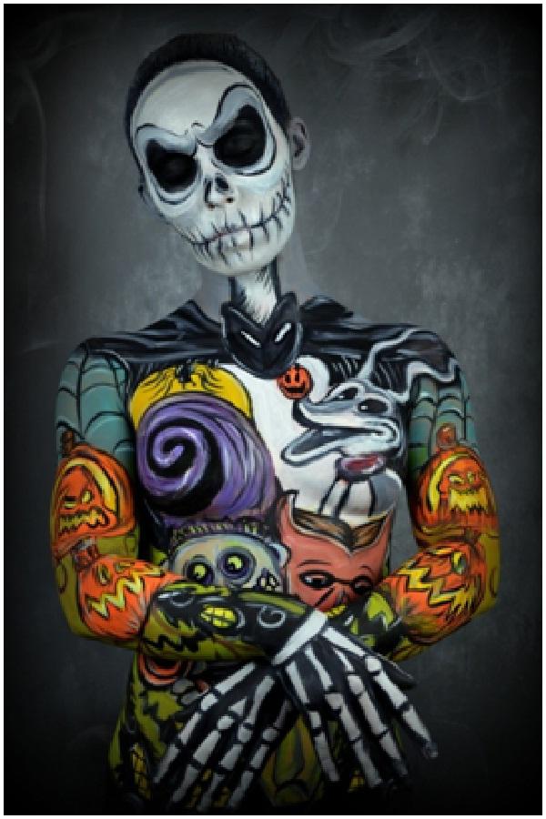 Jack Skeleton-Disney Full Body Painting