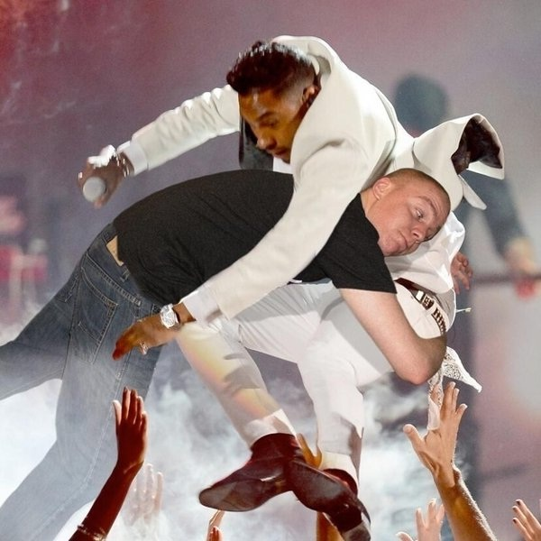 The flying tackle-Man Photoshops Himself With Famous Celebrities