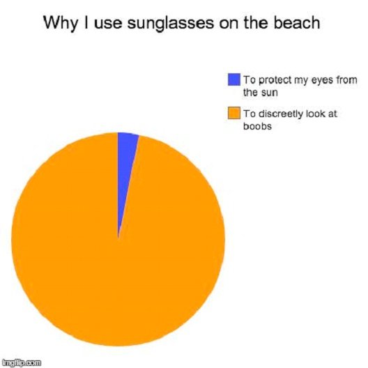 Why I Used Sunglasses On The Beach-Hilarious Relatable Graphs