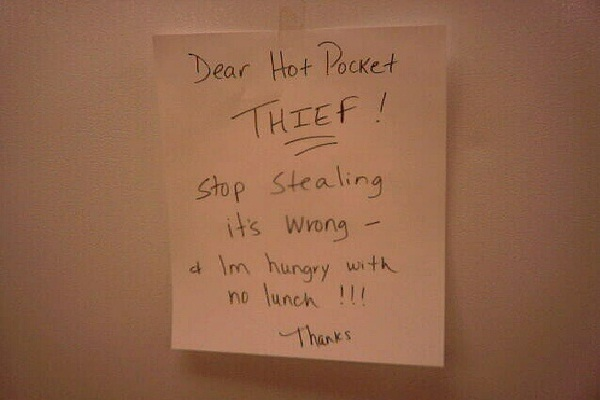 Well Mannered-Funniest Notes To Thief