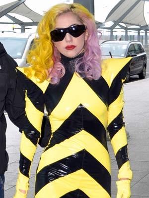 Hazard tape-Worst Lady Gaga Outfits