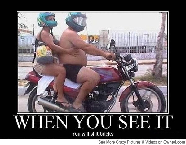 Riding on the motorcycle-Find Out What's Wrong With These Pics