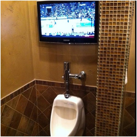 Bathroom Television-Must Have Man Cave Accessories