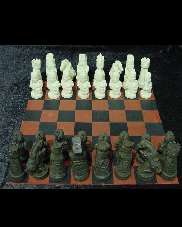 Chess Set-Amazing Bone Carvings