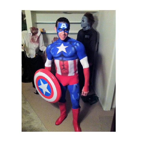 Captain America-Superhero Body Painting