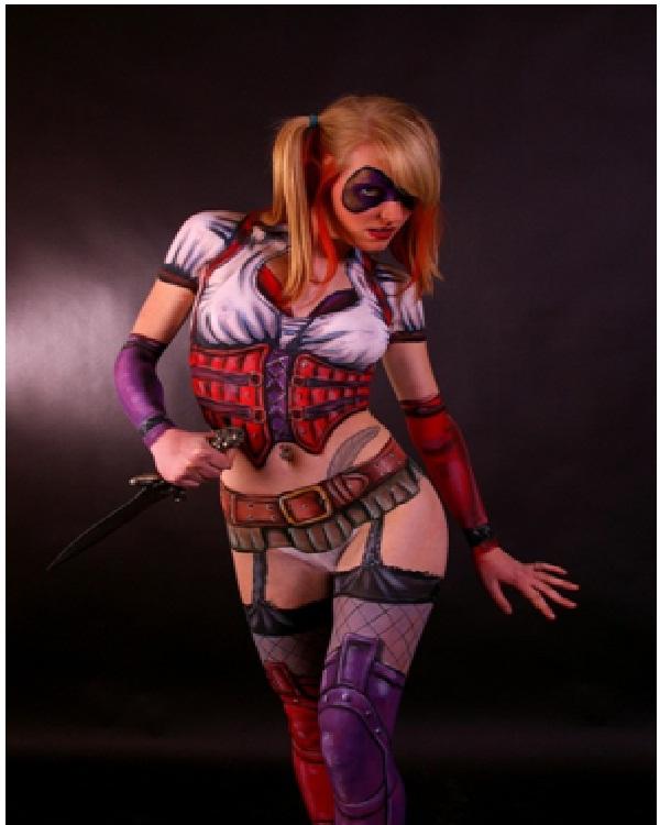 Harley Quinn-Best Halloween Body Paintings