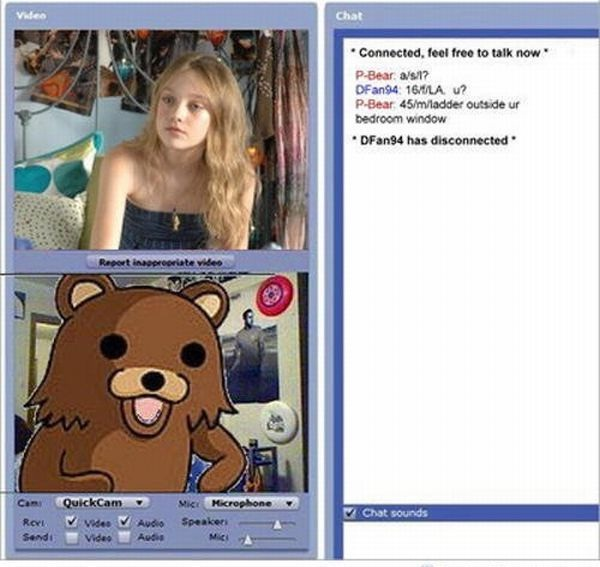 Pedobear strikes again-24 Hilarious Chatroulette Chats That Will Make You Laugh Out Loud