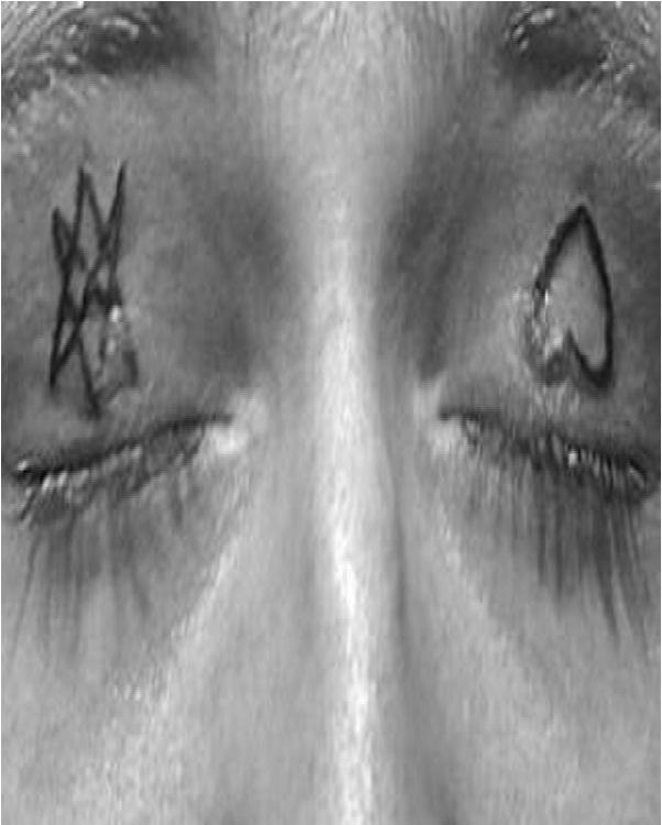 The heart-Weirdest Eyelid Tattoos