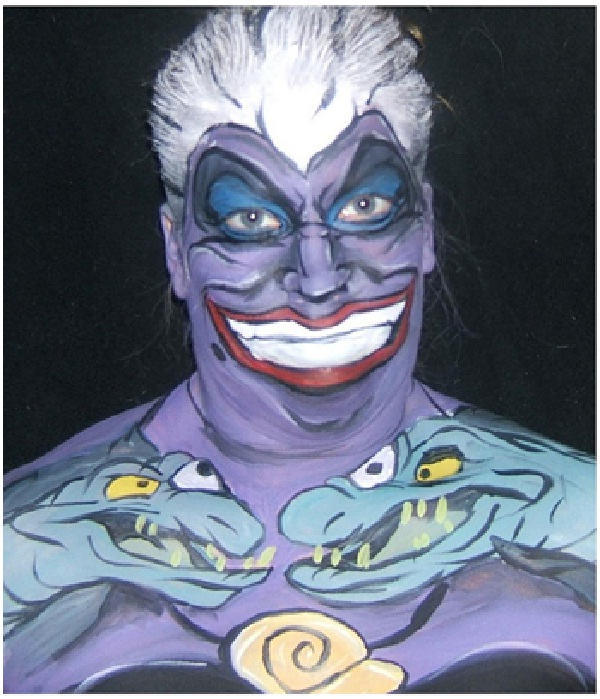 Ursula-Disney Full Body Painting