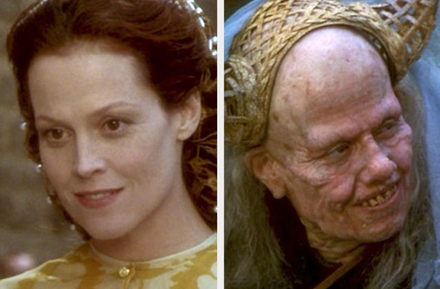 Sigourney Weaver-Most Dreadful Makeups