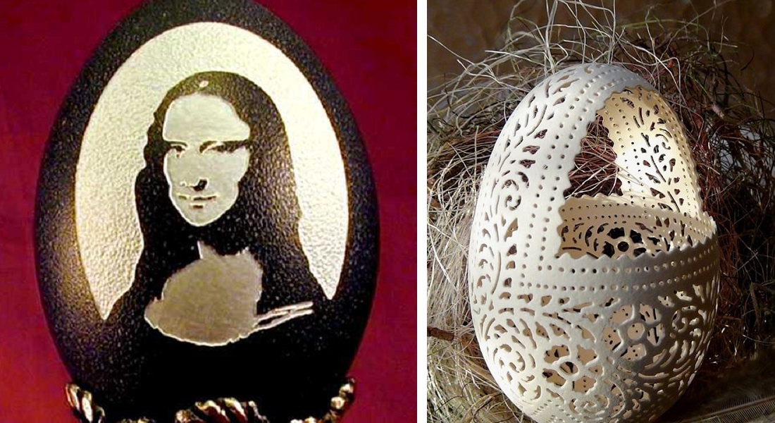 15 Beautiful Egg Shell Carving Ever