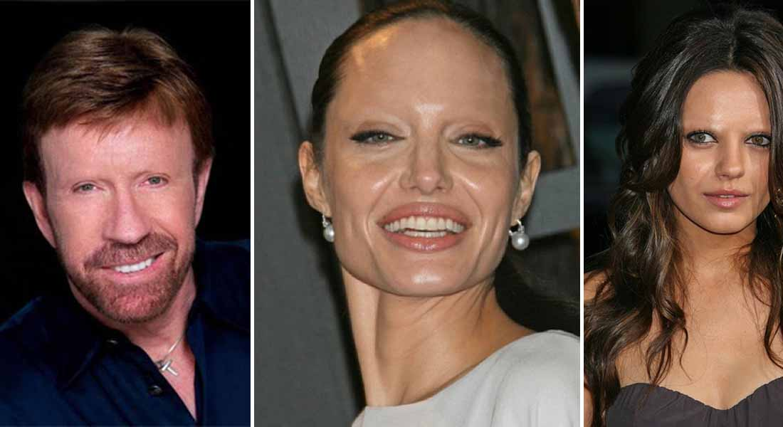 15 Celebrities Without Eyebrows You Never Seen Before