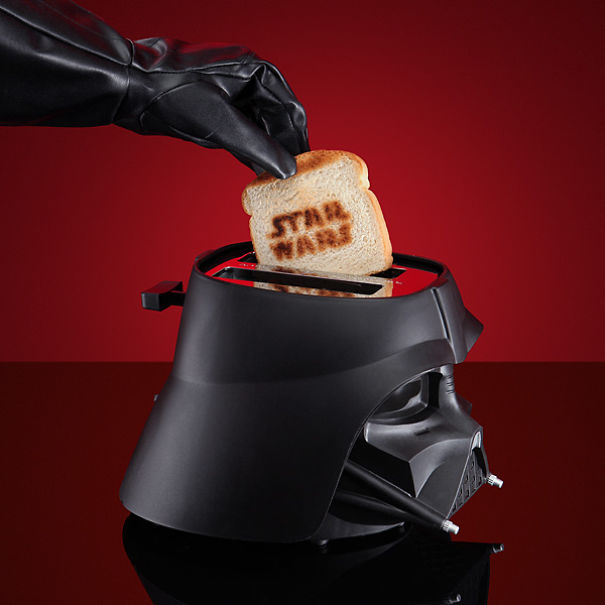 Darth Vader Toast Maker-15 Geeky Kitchen Gadgets That Will Make Your Kitchen A Super Kitchen