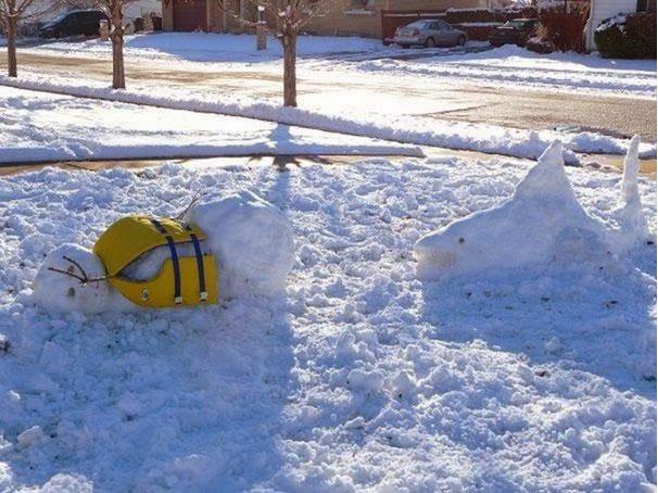Quick!!! Swim!!!-Craziest Snowmen Ever