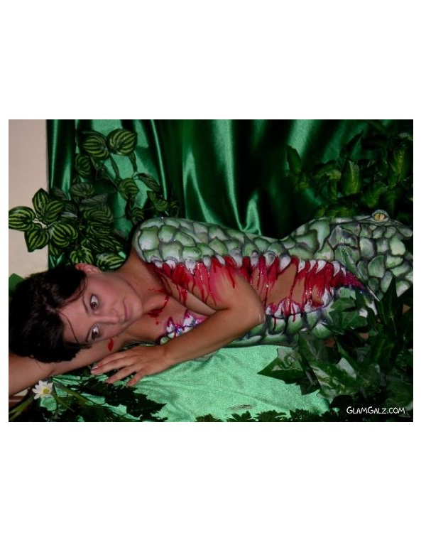 Hungry Alligator-Best Halloween Body Paintings
