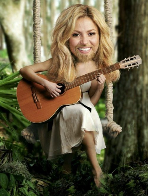 Shakira-24 Hilarious Female Celebrities With Beard Photos