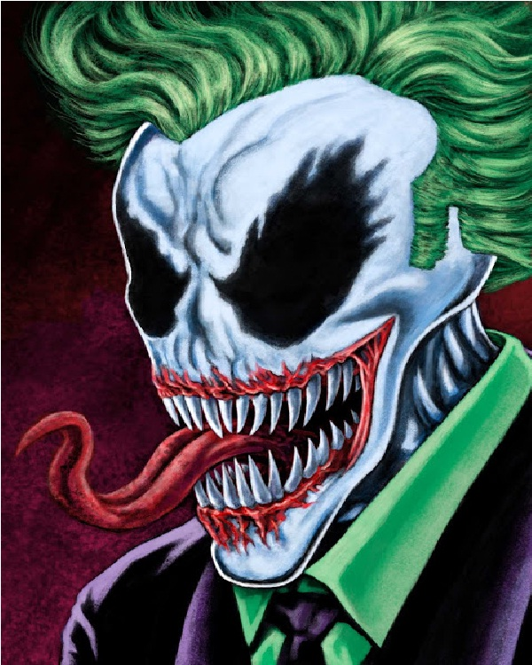 Skeleton-15 Best Joker Drawings That Give You Nightmares