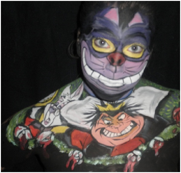 Cheshire Cat-Disney Full Body Painting