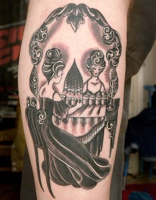 Skeleton Illusion-24 Most Amazing Illusion Tattoos