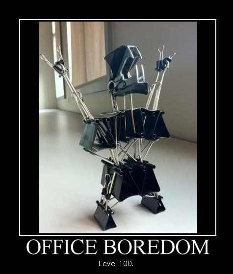 Evil office monster-24 Funny Things People Do When Bored At Home