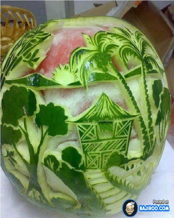 Scenic View Watermelon-Amazing Watermelon Art