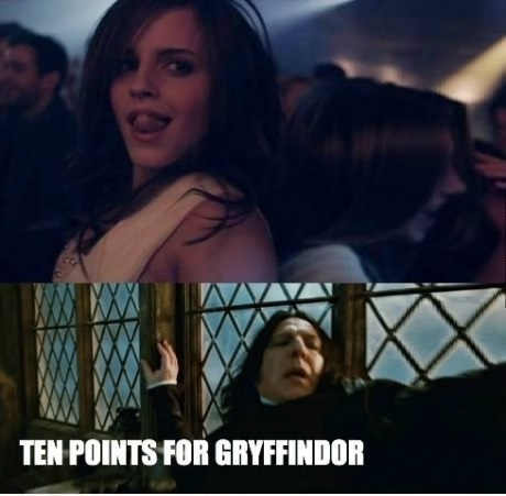 It's too much for Snape-'10 Points For Gryffindor' Memes