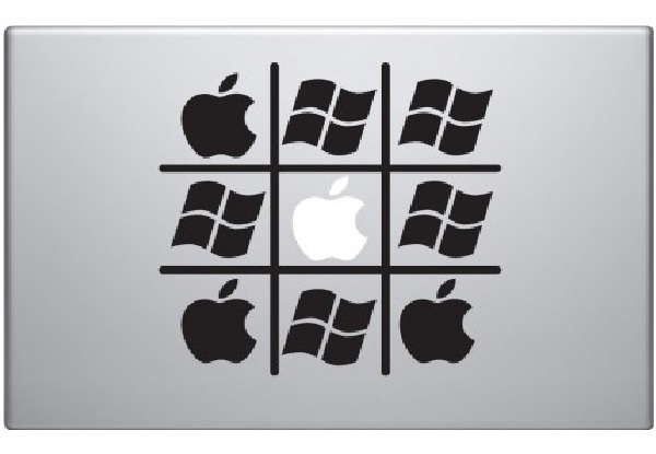 Apple vs windows funny macbook stickers