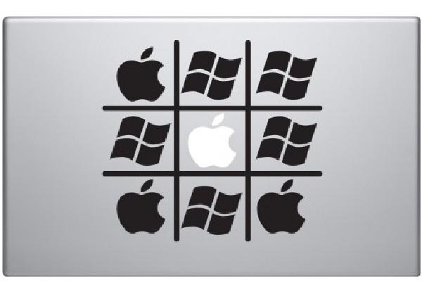 Apple Vs. Windows-Funny MacBook Stickers
