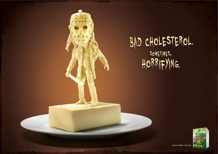 Scary cholesterol-Most Creative Ads Ever
