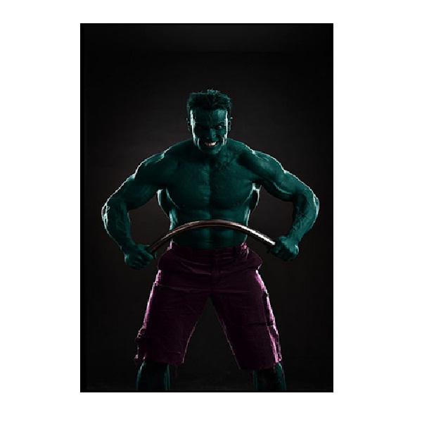 The Hulk-Superhero Body Painting