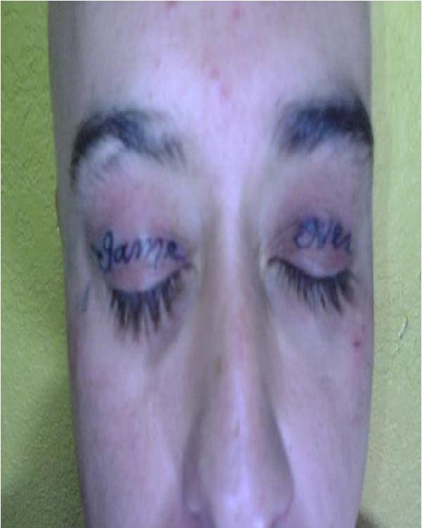Game over-Weirdest Eyelid Tattoos