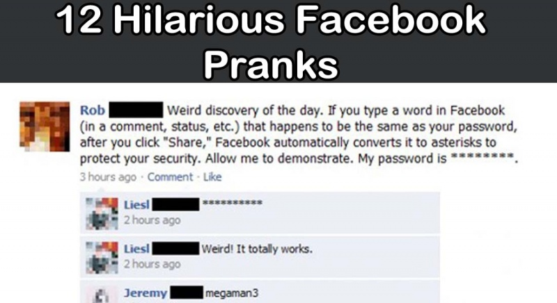 Best Facebook pranks