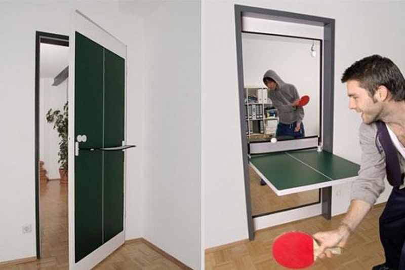 Door Ping Pong Table-15 Awesome Innovations That Simplify Everyday Life