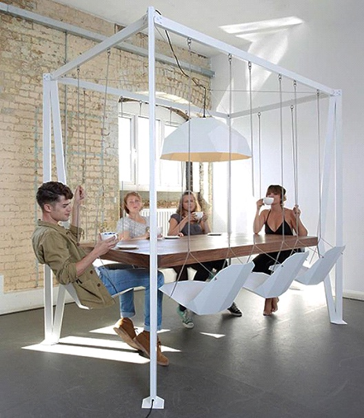 Swing Chairs Dining Table-Awesome Home Interior Designs Ever
