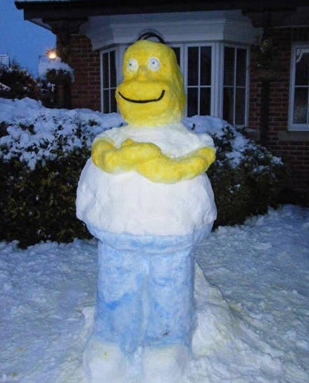 A scary Simpson-Craziest Snowmen Ever