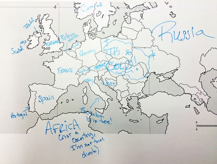 Well done on Africa-Europe According To Americans